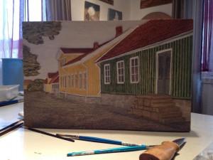 Gamla stan, Falkenberg, målad