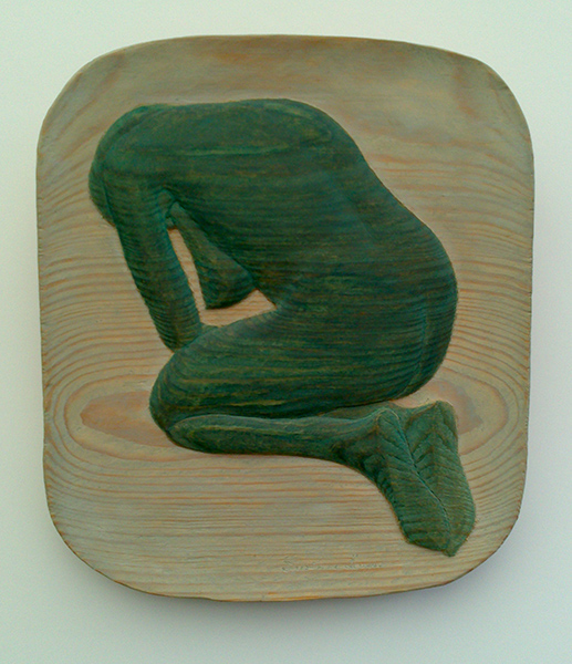 Green pose - 20x23cm