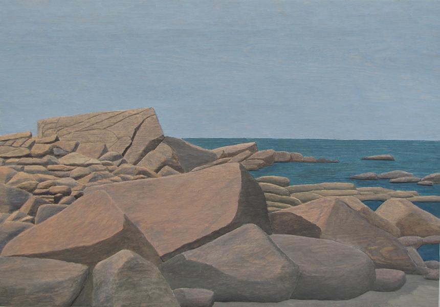 Storstenar vid havet - 72x50cm